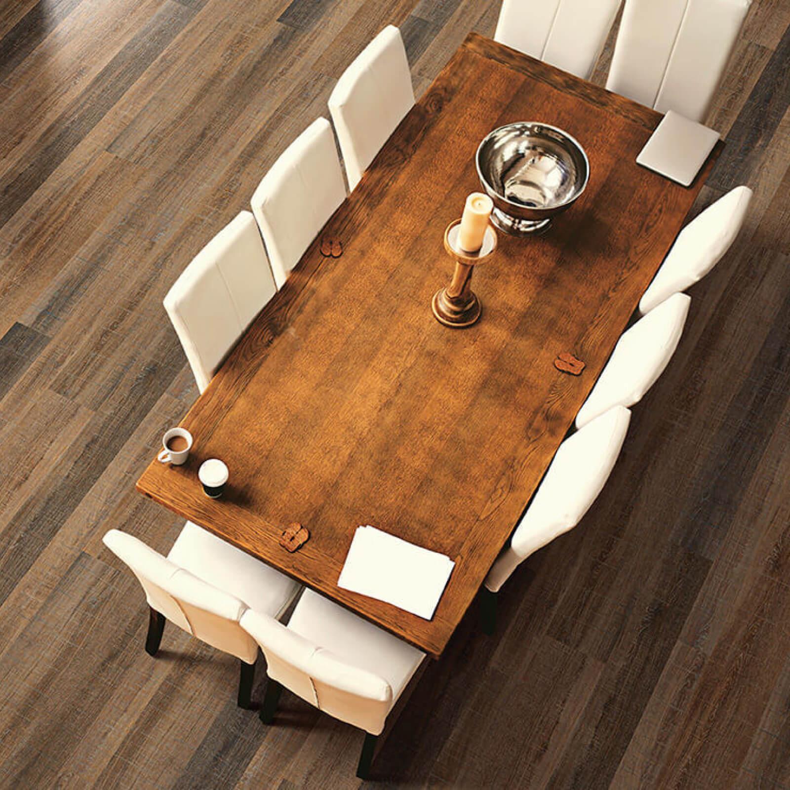 Vinyl Floors in Dining Room | Haley's Flooring & Interiors