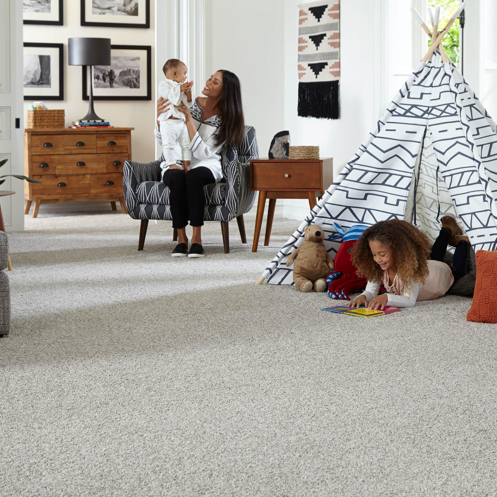 Carpeting in Living Room   Haley's Flooring & Interiors