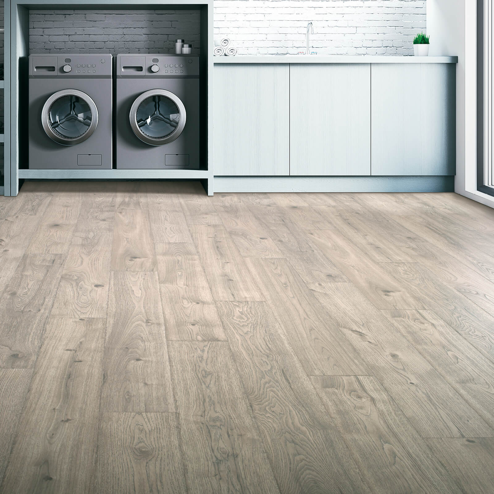 Vinyl Floors in Laundry Room | Haley's Flooring & Interiors