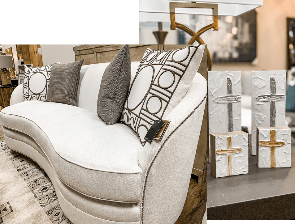 couch white   Haley's Flooring & Interiors