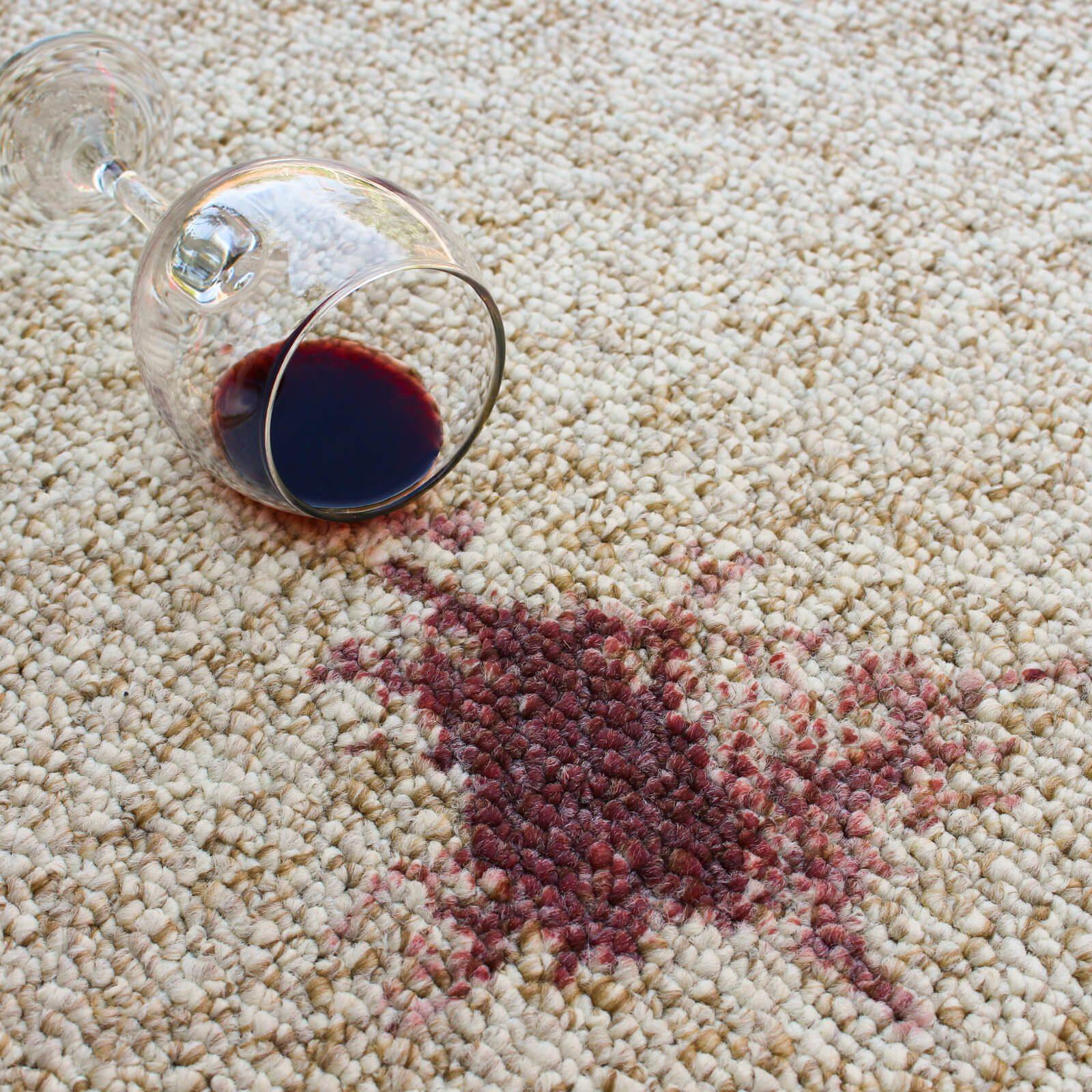 carpet stain wine spill   Haley's Flooring & Interiors