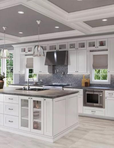 Shaker-White-Cabinets   Haley's Flooring & Interiors