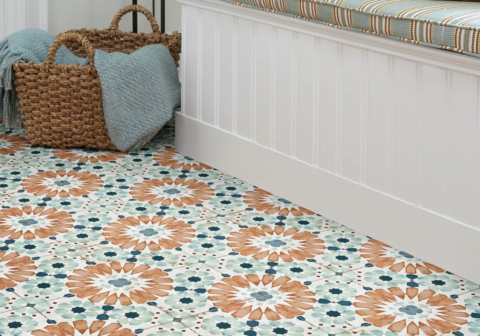 flower tile   Haley's Flooring & Interiors