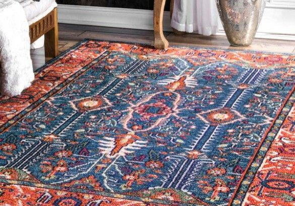 blue and red area rug | Haley's Flooring & Interiors