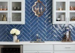 Blue tiles of cooktop   Haley's Flooring & Interiors